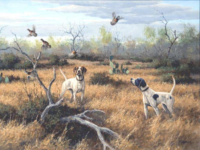 Quail hunting paintings - photo#1