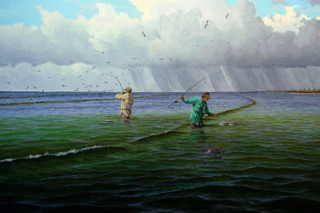 Sweet surf by david drinkard giclee on canvas wade fishing for South texas fishing