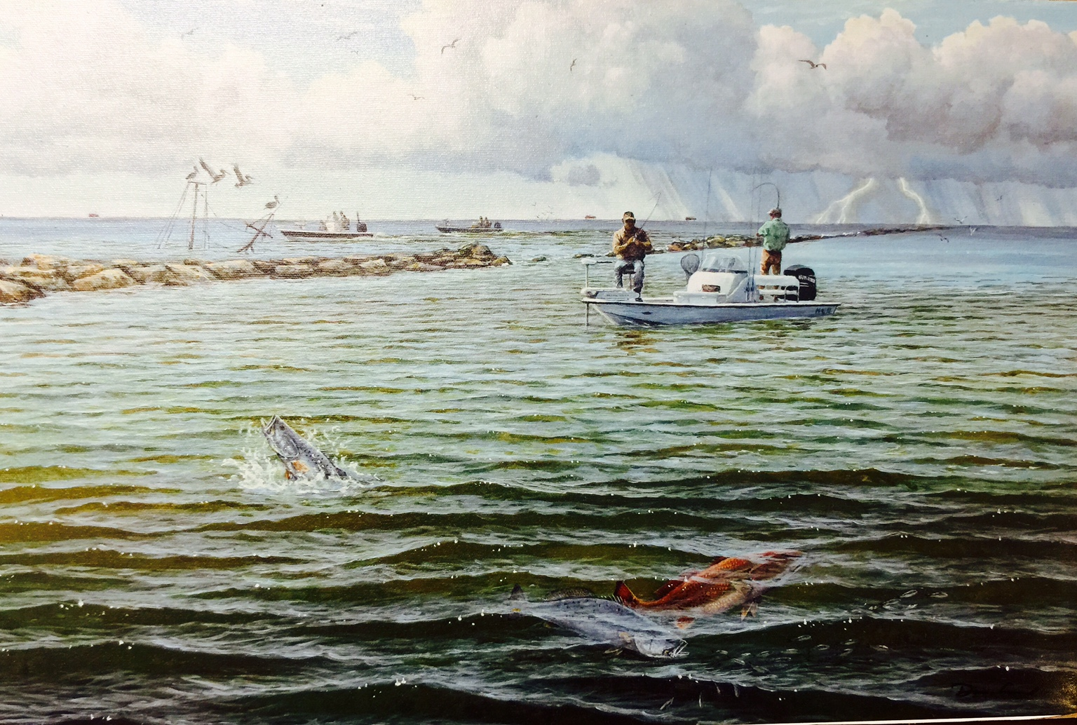 Whimps by david drinkard giclee canvas fishing for specks for South texas fishing