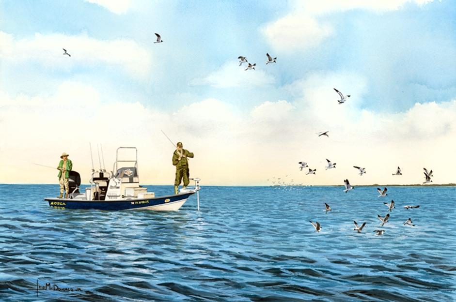 Working the birds by mcdonald east matagorda bay texas for Matagorda bay fishing
