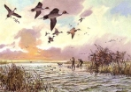 John Cowan - 1988 Texas Waterfowl Stamp and Print