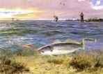 John Cowan - 1989 Texas Saltwater Stamp and Print