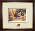 Ken Carlson - 1984 1st TEXAS TURKEY STAMP PRINT FRAMED