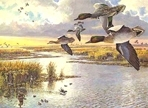 Texas Stamp Prints - 1986 Green-Winged Teal by Herb Booth