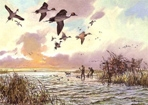 Texas Duck Stamp Prints - 1988 Pintails by John Cowan