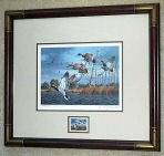 Texas Duck Stamp Prints - Deluxe Frame