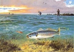 Texas Saltwater Stamp Prints - 1989 Speckled Trout by John Cowan